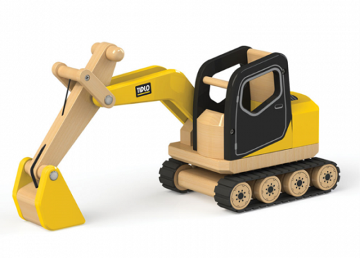 Drveni bager – igračka koja razvija djetetovu motoriku